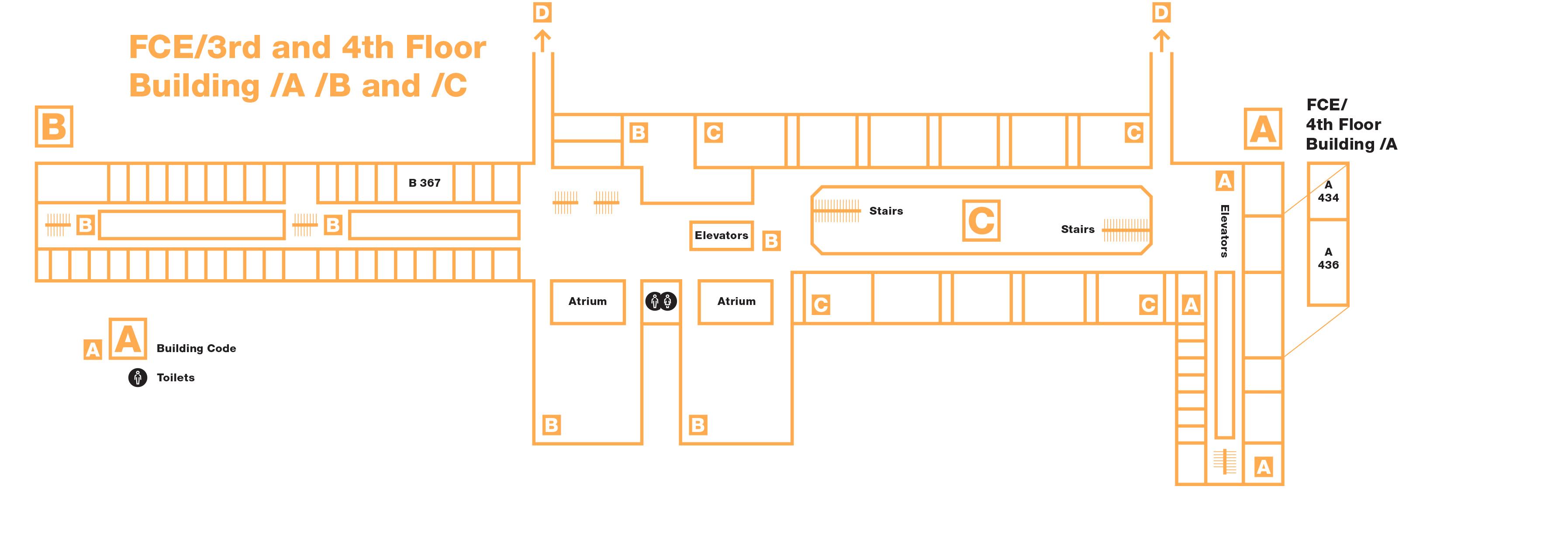 FCE - 3rd-4th floor - A, B, C